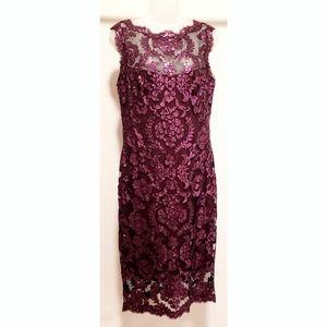 Tadashi Shoji Sequin Lace Sleeveless Dress